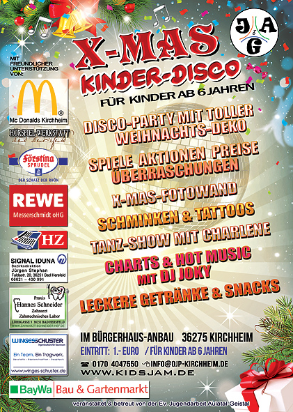 sponsoren x-mas Kinderdisco